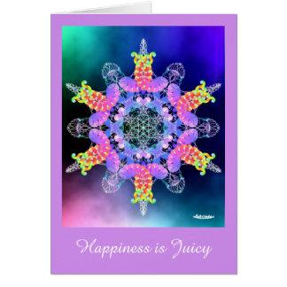 Cartão A felicidade é suculenta