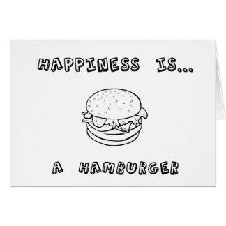 Cartão A felicidade é um Hamburger