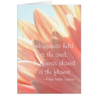 Cartão A felicidade guardarada é a semente
