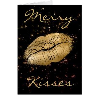 Cartão A feliz beija o Natal