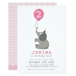 Cartão A festa de aniversário bonito do ELEFANTE & do