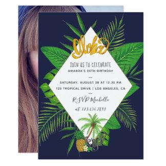 Cartão A festa de aniversário de Luau do Hawaiian Aloha