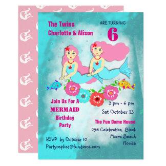 Cartão A festa de aniversario de meninas irrisório do
