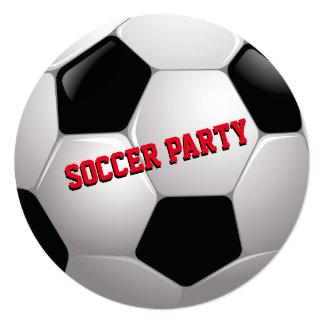 Cartão A festa de aniversário do futebol convida