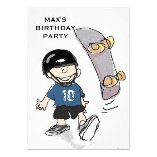 Cartão A festa de aniversário do menino