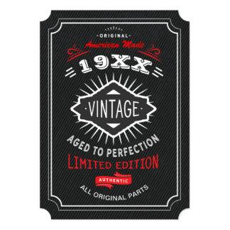 Cartão A festa de aniversário do vintage 40th, 50th ou