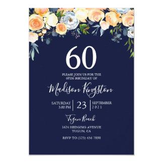 Cartão A festa de aniversário doce do marinho 60th do