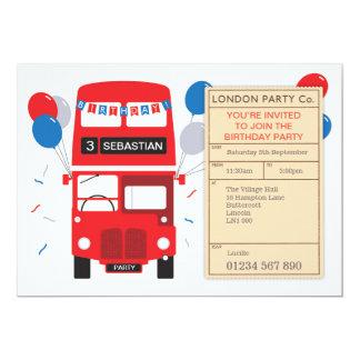 Cartão A festa de aniversário personalizada de Londres