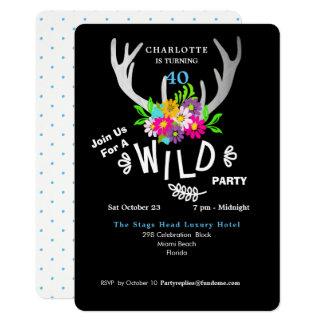 Cartão A festa de aniversário selvagem dos Antlers