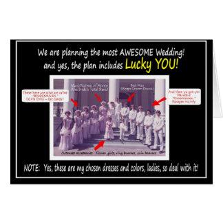 Cartão a festa de casamento do flashback 70s convida