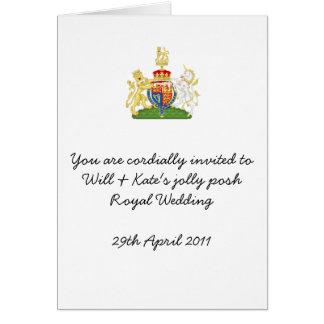 Cartão A festa de casamento real do divertimento convida