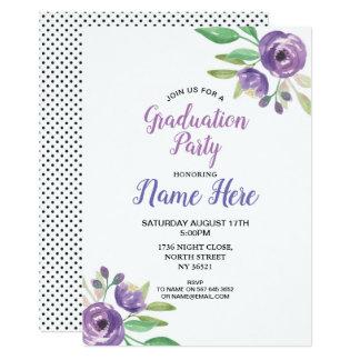 Cartão A festa de formatura bonito convida o Lilac roxo