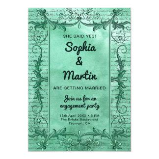 Cartão A festa de noivado da beira do rico do verde do