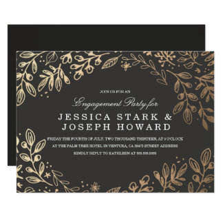 Cartão A festa de noivado das flores da colheita convida