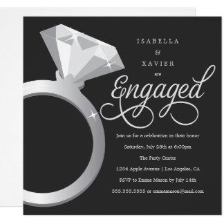 Cartão A festa de noivado feita sob encomenda da cor do