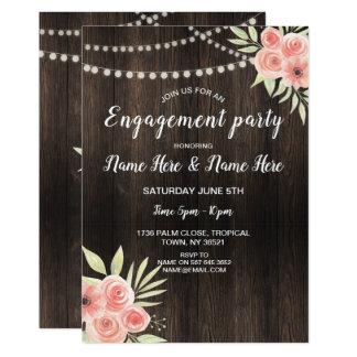 Cartão A festa de noivado floresce rosas que do pêssego a
