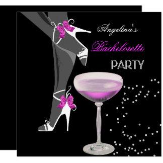 Cartão A festa de solteira calça o rosa de Champagne