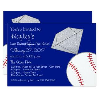 Cartão A festa de solteira do basebol convida por último