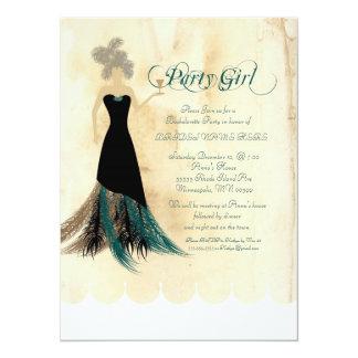 Cartão A festa de solteira do party girl convida