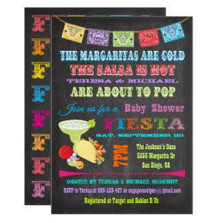 Cartão A festa mexicana do quadro acopla o chá de fraldas