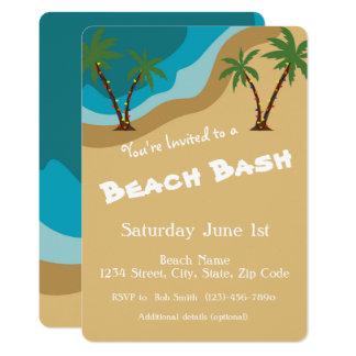 Cartão A festança da praia convida