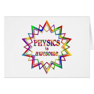 Cartão A física é impressionante