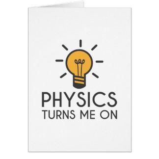 Cartão A física gira-me sobre