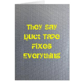 Cartão A fita adesiva obtem bem logo