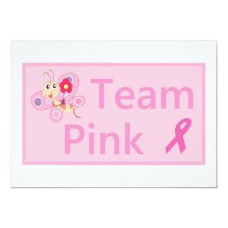 Cartão A fita do rosa da consciência do cancro da mama