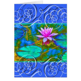 Cartão A flor de Lotus obtem cores bonitas boas