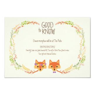 Cartão A floresta lunática Foxes o marfim que Wedding o
