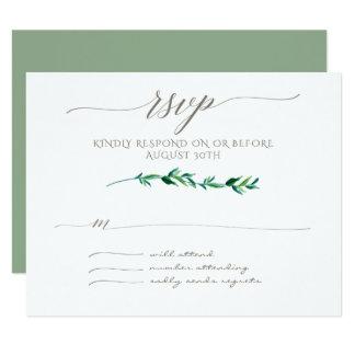 Cartão A folha moderna minimalista de RSVP sae da