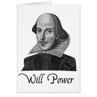 Cartão A força de vontade de William Shakespeare