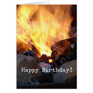 Cartão A forja do ferreiro, feliz aniversario