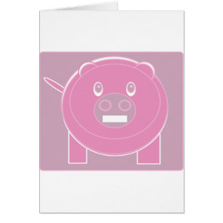 Cartão A forma fez o porco