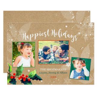 Cartão A foto a mais feliz & a mais alegre do feriado da