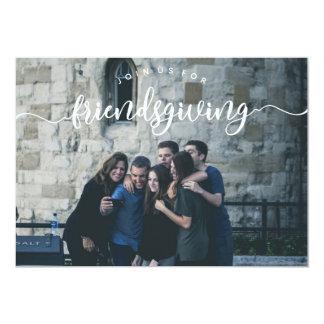 Cartão A foto de Friendsgiving convida