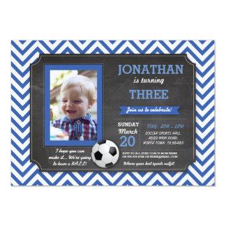 Cartão A foto do aniversário de Footy da bola do pé do