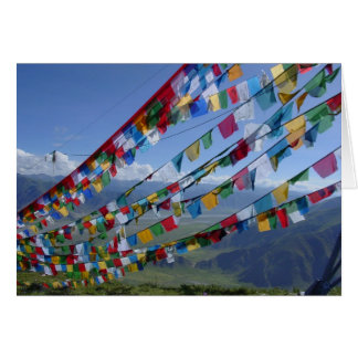 Cartão A foto/oração de Tibet embandeira o tibetano