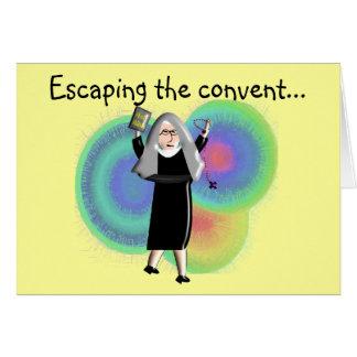 """Cartão A freira carda o """"escape do convento """""""