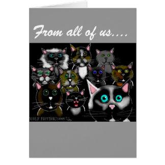 Cartão a galeria de trapaceiro