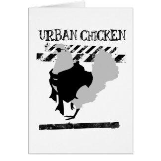 Cartão A galinha urbana