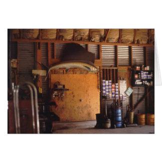 Cartão A garagem da macha, Wimberly, Texas