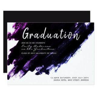 Cartão A graduação moderna convida - pinte o roxo preto