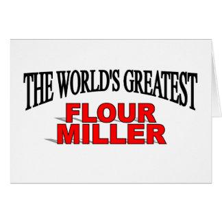 Cartão A grande farinha Miller do mundo