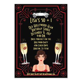 Cartão A grande menina Hollywood do Flapper de Gatsby