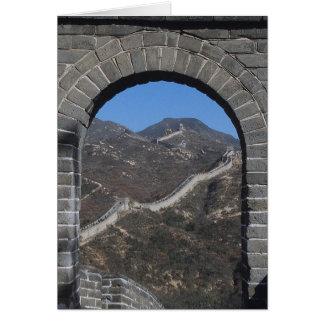 Cartão A grande parede chinesa