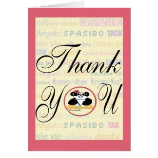 Cartão A gratitude significa a mesma em toda a língua
