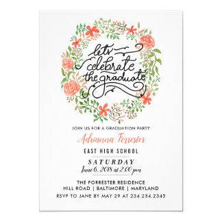 Cartão A grinalda floral | deixa para comemorar o roteiro