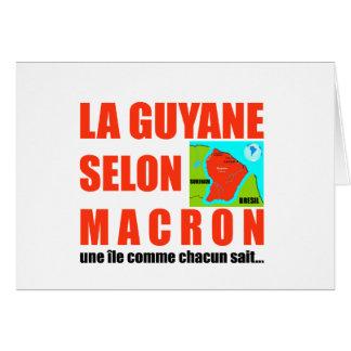 Cartão A Guiana de acordo com Macron é uma ilha